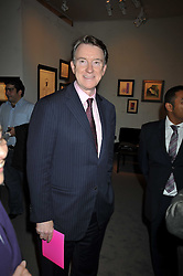 LORD MANDELSON at the Moet Hennessy Pavilion of Art & Design London Prize 2009 held in Berkeley Square, London on 12th October 2009.
