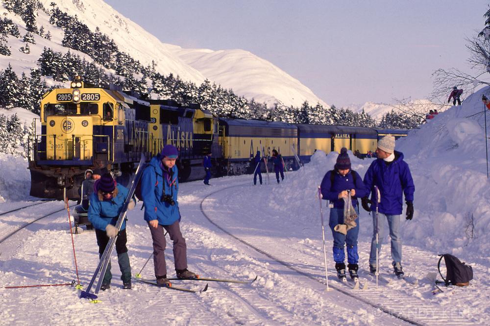 Cross country skiiers
