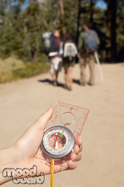 Hikers with Compass