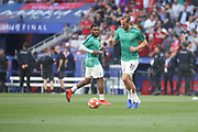Harry Kane warms up prior the Champions League Final match between Tottenham Hotspur and Liverpool at Tottenham Hotspur Stadium, London, United Kingdom on 1 June 2019.