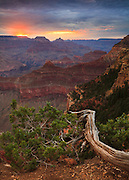 Sunrise from Yavapai Point on the South Rim of the Grand Canyon.