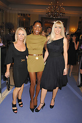 Left to right, KAREN MILLEN, SONIQUE and EMMA NOBLE at the 10th Anniversary Party of the Lavender Trust, Breast Cancer charity held at Claridge's, Brook Street, London on 1st May 2008.<br />