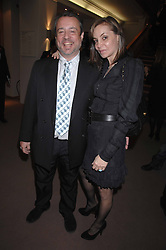 HAMISH McALPINE and CAROLE SILLER at the Lighthouse Gala Auction in aid of the Terence Higgins Trust held at Christie's, St.James's, London on 12th March 2007.<br />