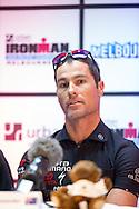 Craig Alexander (AUS). Ironman Melbourne Press Conference. Ironman Melbourne Triathlon. Asia Pacific Championship. URBAN HOTEL, St Kilda, Melbourne, Victoria, Australia. 22/03/2013. Photo By Lucas Wroe
