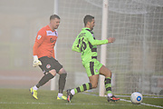 Forest Green Rovers Midfielder, Fabien Robert (26) sees the ball wide during the FA Trophy match between Forest Green Rovers and Truro City at the New Lawn, Forest Green, United Kingdom on 10 December 2016. Photo by Adam Rivers.