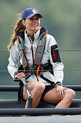 The Duchess of Cambridge takes part in the King's Cup regatta at Cowes on the Isle of Wight. The royal couple are going head to head in the regatta in support of their charitable causes.