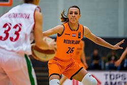 21-11-2018 NED: Netherlands - Bulgaria, Amsterdam<br /> Qualify FIBA Women's EuroBasket 2019 at Sporthallen Zuid Amsterdam / Group Phase Group F, Final Score 89-68 / Lisanne de Jonge #26 of Netherlands