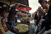 "The Naschmarkt, Vienna's biggest market. Best sauerkraut in town: Gurken-Leo (""Cucumber-Leo"")"