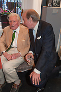 PAUL JOHNSON; GENERAL CHARLES VYVYAN, Elliott and Thompson host a book launch of How the Queen can Make you Happy by Mary Killen.- Book launch. The O' Shea Gallery. St. James's St. London. 20 June 2012.