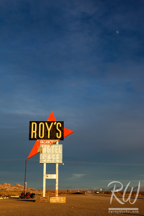 Route 66 Historic Landmark - Roy's Motel, Amboy, California