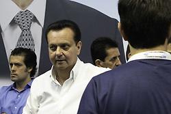 April 28, 2019 - SãO Paulo, Brazil - SÃO PAULO, SP - 28.04.2019: CONVENÇÃO ESTADUAL DEM SÃO PAULO - Former mayor of São Paulo and president of the PSD, Gilberto Kassab was at the state convention of the Democrats in São Paulo, in the south zone of the city, this morning (28). The politician greeted Deputy Governor Rodrigo Garcia and left quickly. (Credit Image: © Bruno Rocha/Fotoarena via ZUMA Press)