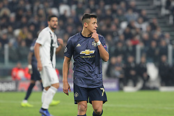 November 7, 2018 - Turin, Piedmont, Italy - Alexis Sanchez (Manchester Utd. FC) during the UEFA Champions League match between Juventus FC and Manchester United FC,  at Allianz Stadium on November 07, 2018 in Turin, Italy..Juventus FC lost 1-2 against Manchester United. (Credit Image: © Massimiliano Ferraro/NurPhoto via ZUMA Press)