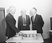 Officials explains plans for a new building at a cheque presentation at Croke Park on the 29th of June 1974.