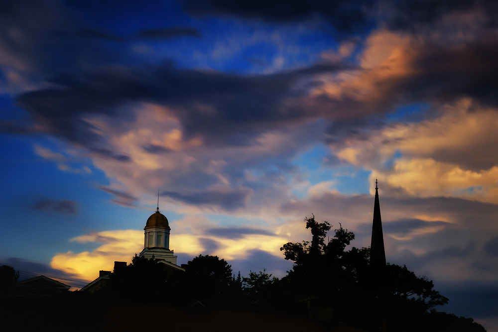Ellicott City Skyline at Dusk.