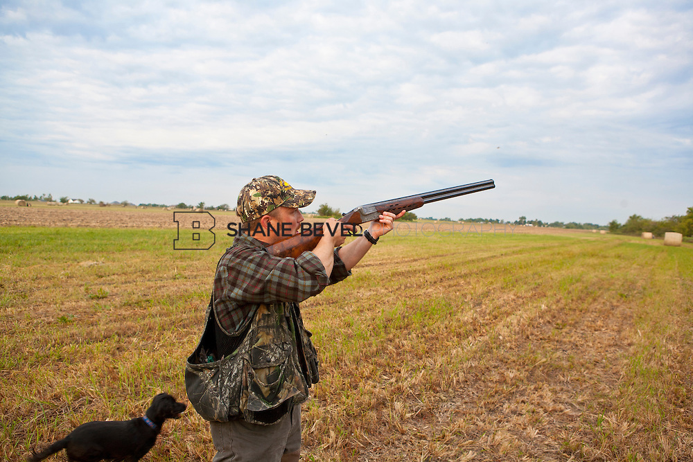 Opening day of dove season with Gordy's Wildlife in a wheat field outside of Pryor, Okla ..Photo by Shane Bevel