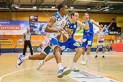 03.12.2017, Walfersamhalle, Kapfenberg, AUT, ABL, ece Bulls Kapfenberg vs UBSC Raifeisen Graz, 10. Runde, im Bild Kareem Jamar (Kapfenberg), Anton Maresch (Graz) // during the ABL, 10 th round, between ece Bulls Kapfenberg and UBSC Raifeisen Graz at the Sportscenter Walfersam, Kapfenberg, Austria on 2017/12/03, EXPA Pictures © 2017, PhotoCredit: EXPA/ Dominik Angerer