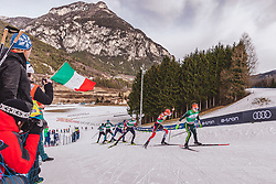 13.01.2019, Stadio del Fondo, Lago di Tesero, ITA, FIS Weltcup Nordische Kombination, Langlauf, im Bild Fabian Riessle (GER), Lukas Greiderer (AUT) // Fabian Riessle of Germany Lukas Greiderer of Austria during Cross Country Competition of FIS Nordic Combined World Cup at the Stadio del Fondo in Lago di Tesero, Italy on 2019/01/13. EXPA Pictures © 2019, PhotoCredit: EXPA/ JFK