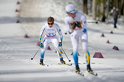 MODIN Zebastian Guide: ACKEROTAIbin competing in the Nordic Skiing XC Long Distance at the 2014 Sochi Winter Paralympic Games, Russia