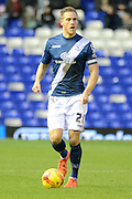 Birmingham City defender Michael Morrison during the Sky Bet Championship match between Birmingham City and Milton Keynes Dons at St Andrews, Birmingham, England on 28 December 2015. Photo by Alan Franklin.