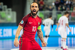 Ricardinho of Portugal celebrate during futsal match between Spain and Portugal in Final match of UEFA Futsal EURO 2018, on February 10, 2018 in Arena Stozice, Ljubljana, Slovenia. Photo by Ziga Zupan / Sportida