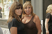 Claudia Winkleman and Eve Pollard, Book launch of 'Fashion Babylon' by Imogen Edwards-Jones and Anonymous. 43 South Molton St. London. 19 July 2006. ONE TIME USE ONLY - DO NOT ARCHIVE  © Copyright Photograph by Dafydd Jones 66 Stockwell Park Rd. London SW9 0DA Tel 020 7733 0108 www.dafjones.com