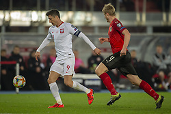 March 21, 2019 - Vienna, Austria - Robert Lewandowski of Poland with Martin Hinteregger of Austria during the UEFA European Qualifiers 2020 match between Austria and Poland at Ernst Happel Stadium in Vienna, Austria on March 21, 2019  (Credit Image: © Andrew Surma/NurPhoto via ZUMA Press)