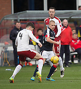 Dundee's Henrik Ojamaa scraps for the ball with Rangers' Rob Kiernan - Dundee v Rangers in the Ladbrokes Scottish Premiership at Dens Park, Dundee.Photo: David Young<br /> <br />  - © David Young - www.davidyoungphoto.co.uk - email: davidyoungphoto@gmail.com