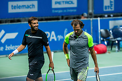 Teymuraz Gabashvili of Russia and Carlos Gomez-Herrera of Spain playing doubles in 3rd Round of ATP Challenger Zavarovalnica Sava Slovenia Open 2019, day 7, on August 15, 2019 in Sports centre, Portoroz/Portorose, Slovenia. Photo by Vid Ponikvar / Sportida