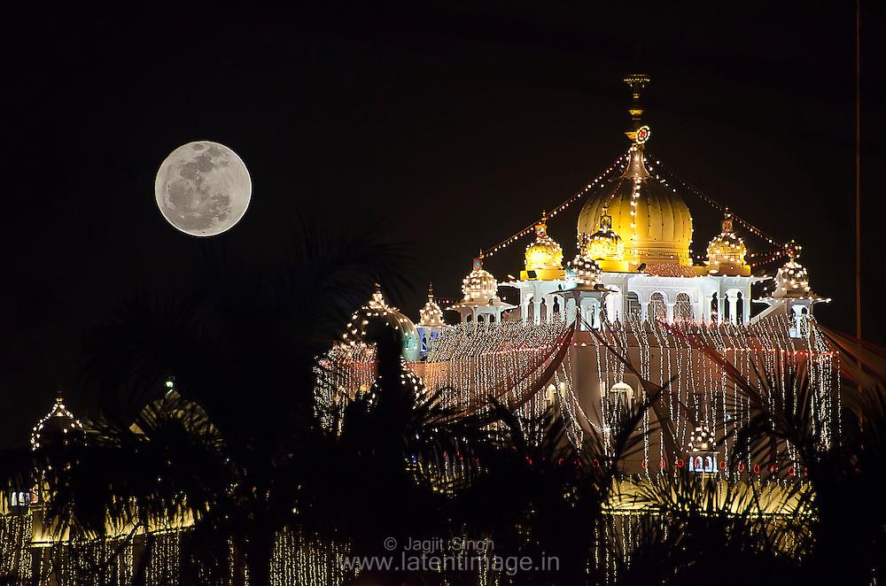 Gurdwara Anandpur Saheb during Hola Mohalla festival.