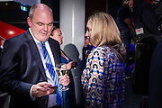 Keep talking, I'm listening. National senior minister Steven Joyce at the Viaduct Event Centre.  <br /> 2014 New Zealand General Election night photography commissioned by The NZ Listener magazine.