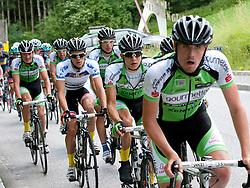 04.07.2013, Niederösterreich, AUT, 65. Oesterreich Rundfahrt, 5. Etappe, St.Johann/Alpendorf - Sonntagberg im Bild #138 Riccardo Zoidl, AUT, Gourmetfein Simplon im Trikot des besten Österreichers und das Team Gourmetfein Simplon // during the 65th Tour of Austria, Stage 5, from St. Johann / Alpendorf to Sonntagberg, Lower Austria, Austria on 2013/07/04. EXPA Pictures © 2013, PhotoCredit: EXPA/ R. Eisenbauer