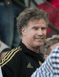 April 29, 2018 - Los Angeles, California, U.S - Will Farrell during opening game festivities prior to the MLS game between the LAFC and the Seattle Sounders on Sunday April 29, 2018, their first game at the Banc of California Stadium in Los Angeles, California. LAFC defeats Sounders, 1-0. (Credit Image: © Prensa Internacional via ZUMA Wire)