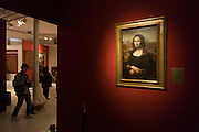 Mona Lisa copy at Chateau de Clos Lucé, home to Leonardo da Vinci for the last 3 years of his life and now a celebration of his life and achievements, Amboise, France.