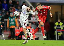 08.12.2018, 1.BL, FCB vs 1.FC Nuernberg, Allianz Arena Muenchen, Fussball, Sport, im Bild:..Mikael Ishak ( 1.FC Nuernberg ) vs Niklas Suele (FCB)..DFL REGULATIONS PROHIBIT ANY USE OF PHOTOGRAPHS AS IMAGE SEQUENCES AND / OR QUASI VIDEO...Copyright: Philippe Ruiz..Tel: 089 745 82 22.Handy: 0177 29 39 408.e-Mail: philippe_ruiz@gmx.de. (Credit Image: © Philippe Ruiz/Xinhua via ZUMA Wire)