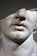 broken marble head, Greek, Hellenistic period