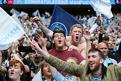Manchester CIty fans celebrate at the final whistle - Mandatory by-line: Arron Gent/JMP - 18/05/2019 - FOOTBALL - Wembley Stadium - London, England - Manchester City v Watford - Emirates FA Cup Final