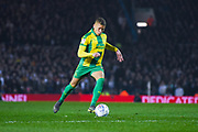 Dwight Gayle of West Bromwich Albion (16) takes a free kick during the EFL Sky Bet Championship match between Leeds United and West Bromwich Albion at Elland Road, Leeds, England on 1 March 2019.