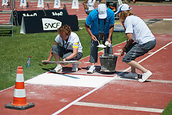 Behind the scenes, , Triple Jump, T11, 2013 IPC Athletics World Championships, Lyon, France