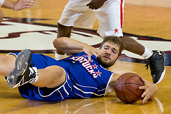 Kentucky Boys All-Star Carson Williams dives after a loose ball in the first half. The Kentucky vs. Indiana All-Star Classic was held, Sunday, June 12, 2016 at Bellarmine University's Knights Hall in Louisville.