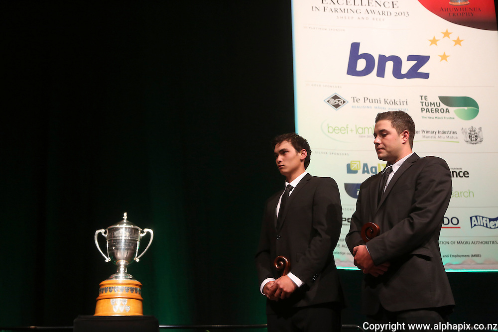 ***FREE FOR MEDIA USE***<br /> <br /> Te Awahohonu Forest Trust - Tarawera Station were announced as the winner of the Ahuwhenua Trophy, Maori Excellence in Farming Award 2013 at a dinner held at PG Arena, Napier, New Zealand, Friday, 07 June, 2013. Credit: alphapix.co.nz