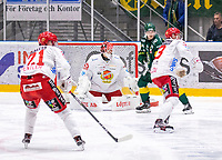 2019-12-14 | Umeå, Sweden:Everybody waiting for the puck to coming in  HockeyAllsvenskan during the game  between Björklöven and Almtuna at A3 Arena ( Photo by: Michael Lundström | Swe Press Photo )<br /> <br /> Keywords: Umeå, Hockey, HockeyAllsvenskan, A3 Arena, Björklöven, Almtuna, mlba191214