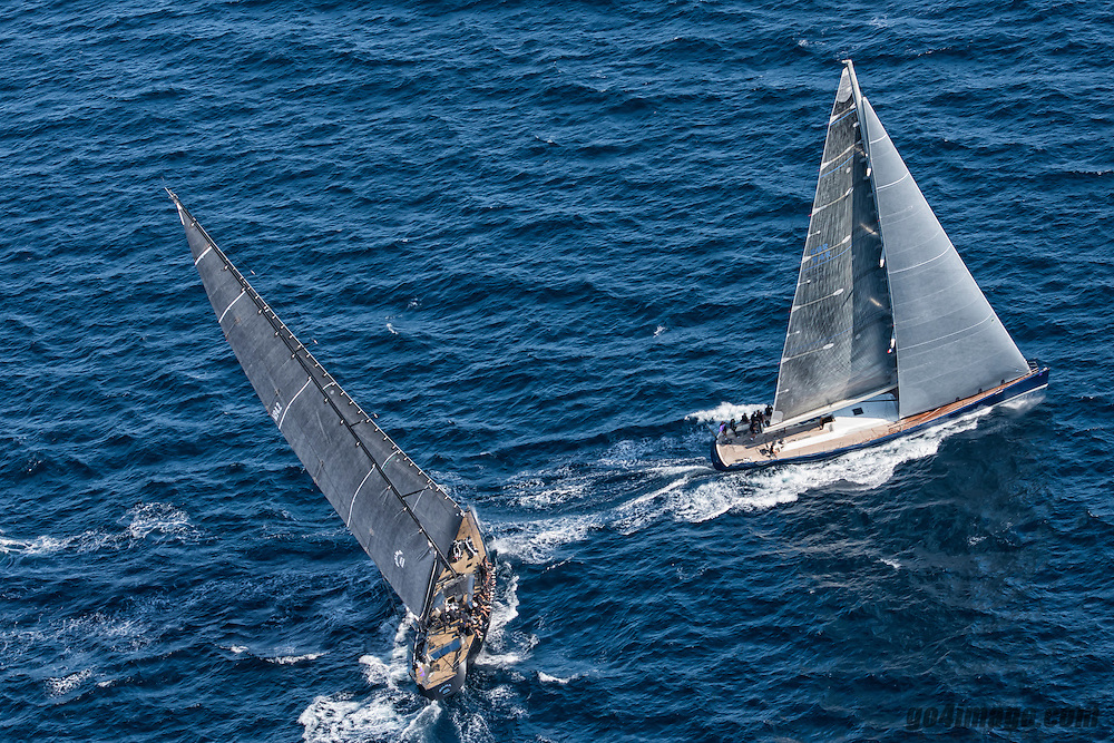 France Saint - Tropez October 2013, Wally Class racing at the Voiles de Saint - Tropez<br /> <br /> Wally,GBR 94R,MAGIC BLUE,&quot;28,5&quot;,WALLY 94/2002,GERMAN FRERS