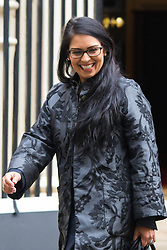 Downing Street, London, October 27th 2015.  Employment Minister Priti Patel leaves 10 Downing Street after attending the weekly cabinet meeting.