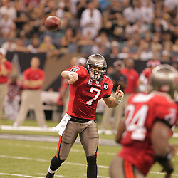 2008 September 7: Tampa Bay Buccaneers quarterback Jeff Garcia (7) in action against the New Orleans Saints at the Louisiana Superdome in New Orleans, LA.  The New Orleans Saints (1-0) defeated the Tampa Bay Buccaneers (0-1) 24-20.
