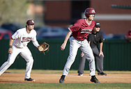 April 2, 2019: The Southern Nazarene University Crimson Storm play against the Oklahoma Christian University Eagles at Dobson Field on the campus of Oklahoma Christian University.