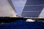 Lionheart and Hanuman, J Class, sailing in the St. Barth's Bucket Regatta, day one.