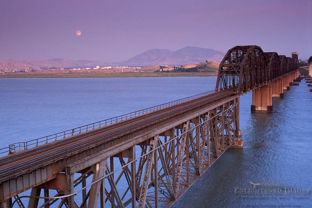Train Trestle Bridge over the Carquinez Strait, CALIFORNIA