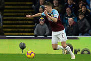 Burnley midfielder Johann Gudmundsson (7) during the Premier League match between Burnley and West Ham United at Turf Moor, Burnley, England on 30 December 2018.