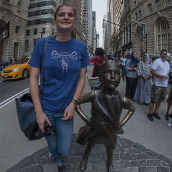 Eliza and Defiant Girl, Wall Street, Manhattan, New York, US
