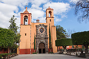 The Templo de San Juan de Dios church in the historic city of San Miguel de Allende, Mexico.